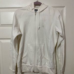 Women's white zip up Jacket